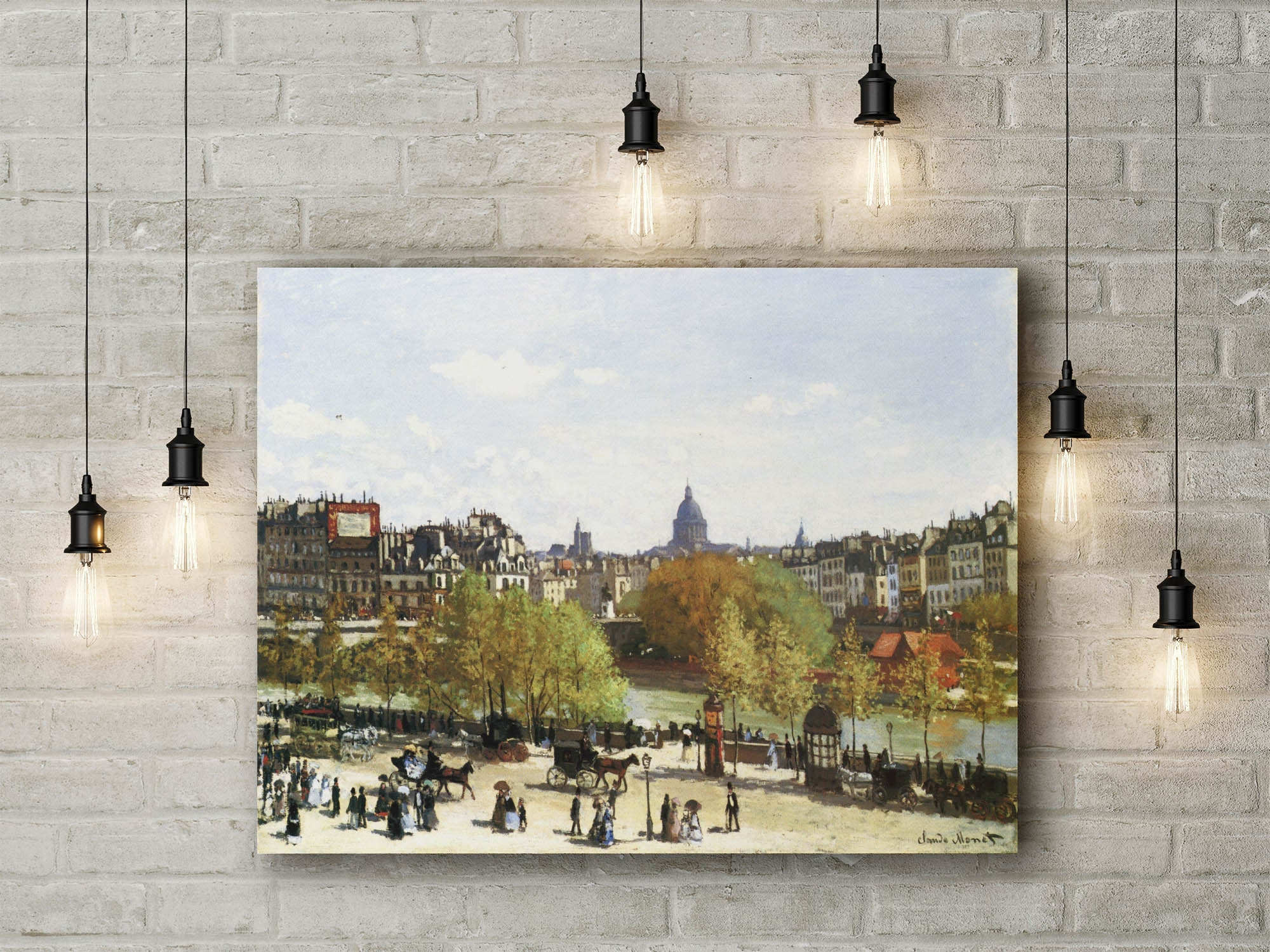 Nymphe/_as Canvas Print Picture Wall Art Large 30x20 Inches Claude Monet Water Lilliers