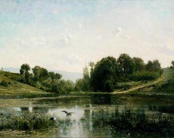 Charles-Franҫois Daubigny: The Ponds of Gylieu. Fine Art Print/Poster (004635)