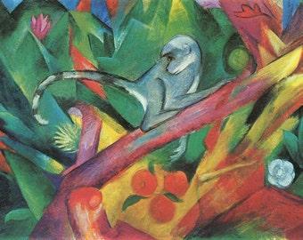 Franz Marc: The Monkey. Fine Art Print/Poster. (003311)