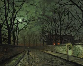 John Atkinson Grimshaw: Silver Moonlight. Fine Art Print/Poster. (003230)
