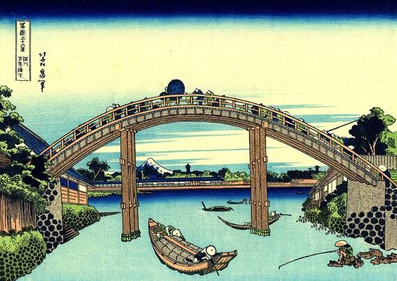 Art Print//Poster Ando Hiroshige The Sea at Satta 5086 Suruga Province