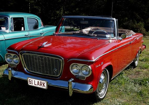 1961 Studebaker Lark Vintage Car Print Poster 5305
