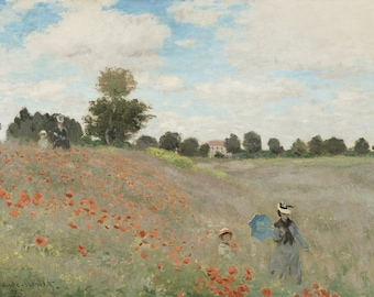Claude Monet: Wild Poppies. Fine Art Print/Poster. (003218)