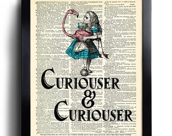 Alice in Wonderland Disney Movie Digital Art Poster Print T1270 A4 A3 A2 A1 A0|