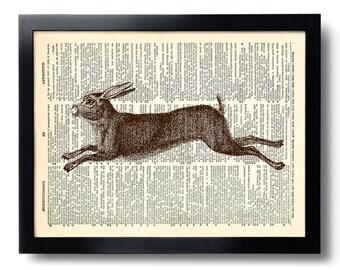 Schilderij konijn etsy
