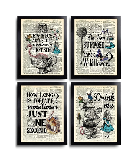white rabbit,Alice in wonderland prints,inspirational wall art quotes print able