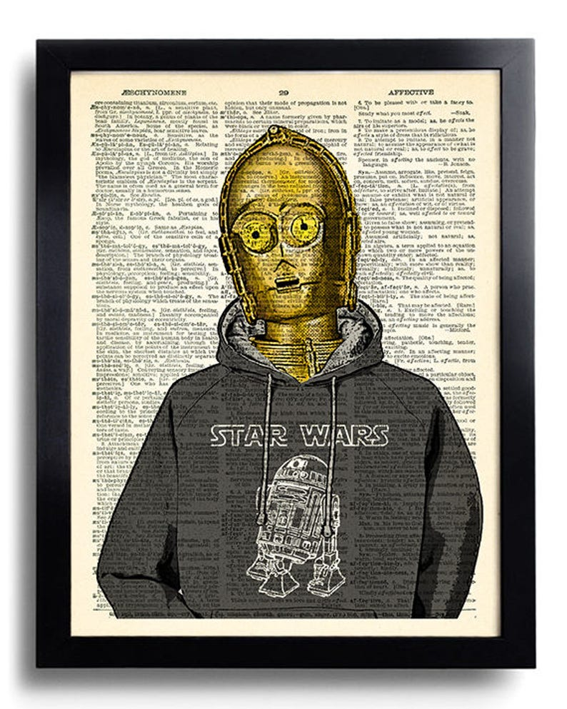 GEEKERY C3po R2D2 Star Wars Art Print Unique Gift For Best