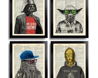 Star Wars Poster Print Set Star Wars ART Star Wars imprimé Star Wars mur Art Print Star Wars Decor Star Wars Wall Decor Starwars cadeau homme 540
