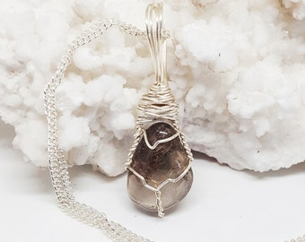 Wire Wrapped LEPIDOCROCITE Lepidocrosite Necklace Handmade Jewelry Healing Crystal Jewelry Stone Fairy Wicca Pagan Bohemian Jewelry LPC321
