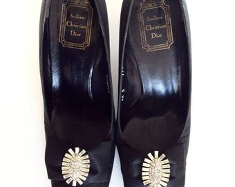 Christian Dior. Dior shoes. Vintage Christian Dior. Vintage Dior. Black Dior shoes. Dior accessories. Vintage shoes. Black pumps. Dior pumps