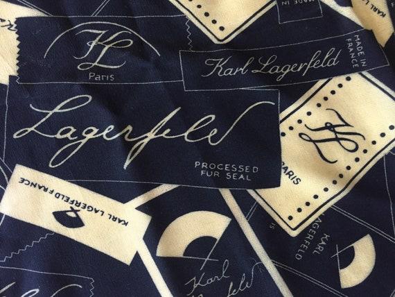 Karl Lagerfeld. Vintage silk scarf. Vintage Karl L