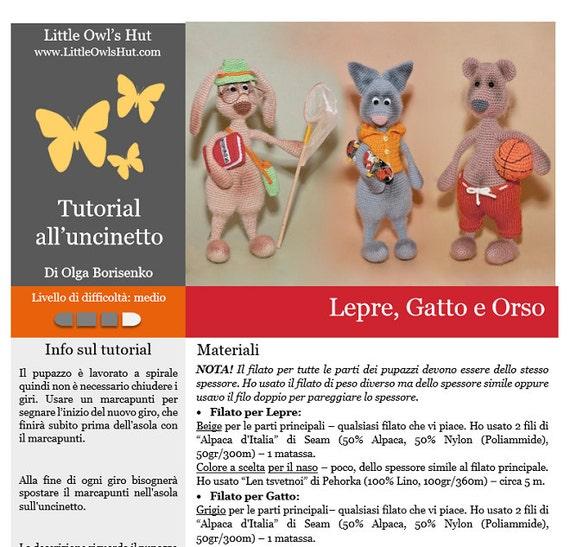 GATTINO DOLCE AMIGURUMI | Gatti uncinetto, Orso all'uncinetto ... | 547x570
