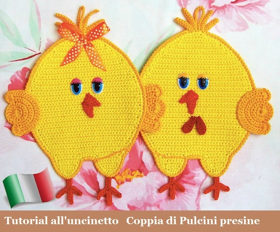 051it Il Tutorial Alluncinetto Coppia Di Pulcini Presine Etsy