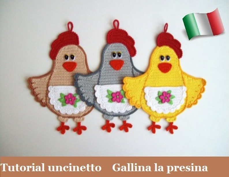 067it Il Tutorial Alluncinetto Gallina La Presina Amigurumi Etsy