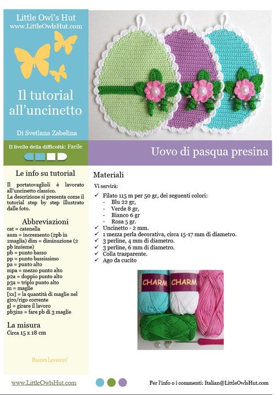 Punto Crochet All Uncinetto.066it Il Tutorial Alluncinetto Uovo Di Pasqua Presina Etsy