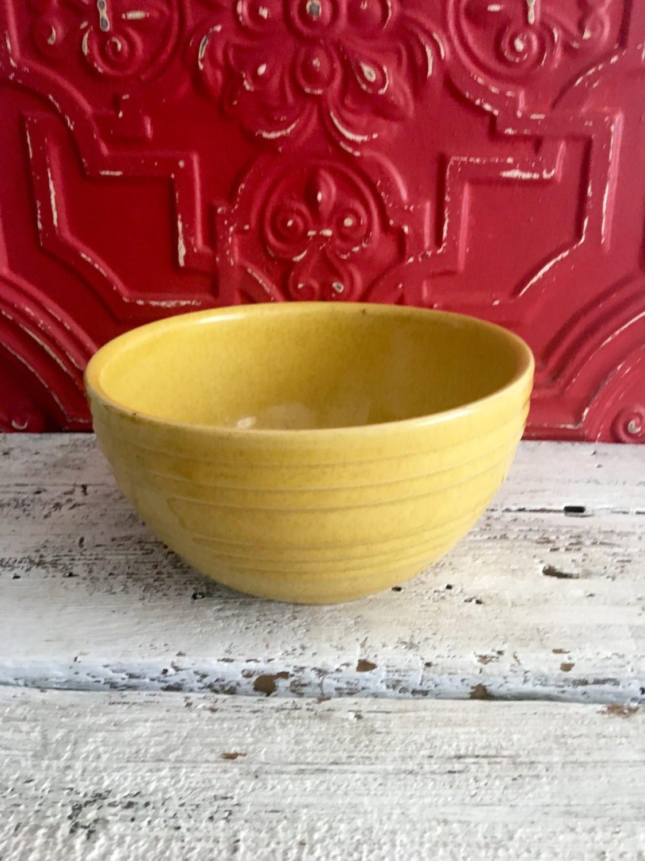 Vintage Gold Ceramic Mixing Bowl, 8 Mixing Bowl, Farmhouse Style ...