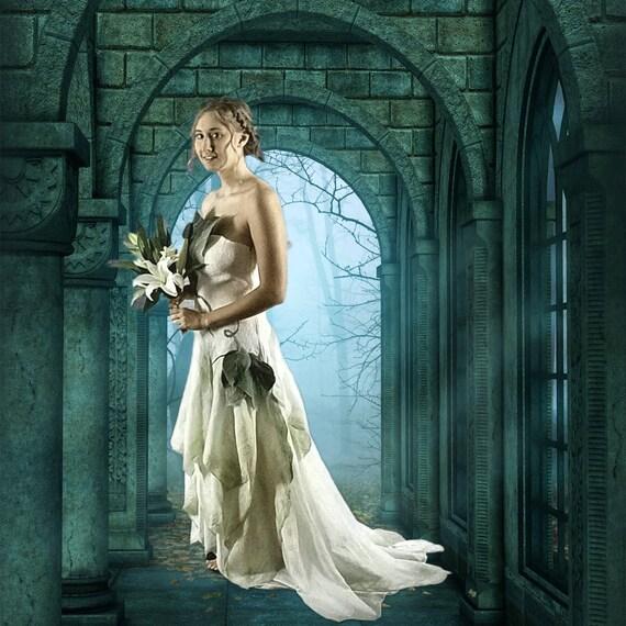 Woodland Fairy Wedding Dress. Alternative Wedding Dress. | Etsy