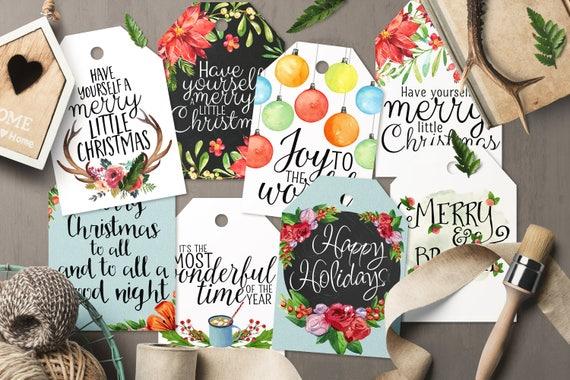 Printable Shipping Tags Gift Greeting Carts Christmas