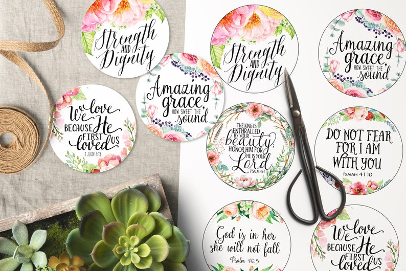 photograph about Printable Scripture identify Scripture artwork tags, Printable 3\