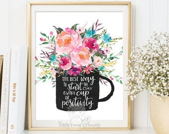 Motivational poster Inspirational Print Teen Room Decor floral gift Typographic Quote Kids Wall Art quote printable floral nursery decor 53