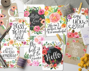 """Printable gift tags, 3.25"""" x 2.25"""" inspirational gift, Rounded greeting carts, digital images, collage sheet, Digital bottle cap collage 7-3"""
