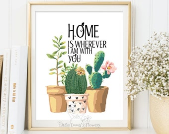 Home is wherever print Entrance wall art welcome print decor art home calligraphy quotes printable art calligraphy quote watercolor 111