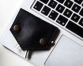Key rack Key holder Key wallet Leather key chain Leather key holder Black leather key fob Key pouch Business gift Corporate gifts