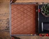 iPad pro 11 sleeve Genuine leather iPad handbag iPad 11 inch case Wool felt iPad sleeve Brown iPad pro bag Business gift