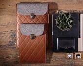 Genuine leather Kindle sleeve Wool felt Kindle pouch Handmade Kindle paperwhite case Book sleeve Kindle voyage cover