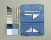 Leather Wallet Womens leather wallet Handmade wallet Minimalist wallet Leather wallets Leather long wallet Blue wallet Women wallet