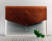 See through Laptop sleeve 13 inch Quilted leather Laptop case
