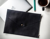 Laptop sleeve Leather laptop case 13 Macbook sleeve Leather laptop cover Genuine leather case Padded felt sleeve Perfect laptop protection