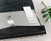 Clear laptop case Genuine leather laptop sleeve 15 inch laptop bag Protective iPad pro case