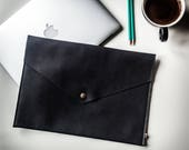 Leather Macbook Air 13 sleeve Macbook sleeve laptop carry all bag briefcase leather Macbook Air porfolio padded wool felt lined Macbook case