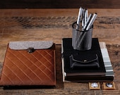 iPad pro sleeve iPad 12.9 inch case Tablet sleeve Genuine leather case Lined wool felt case Leather iPad Pro sleeve Slim iPad Pro sleeve