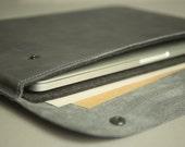 """MacBook 12"""" Air case Genuine leather laptop sleeve Padded wool felt case Leather laptop case briefcase Macbook Air 12 sleeve Bag for Macbook"""