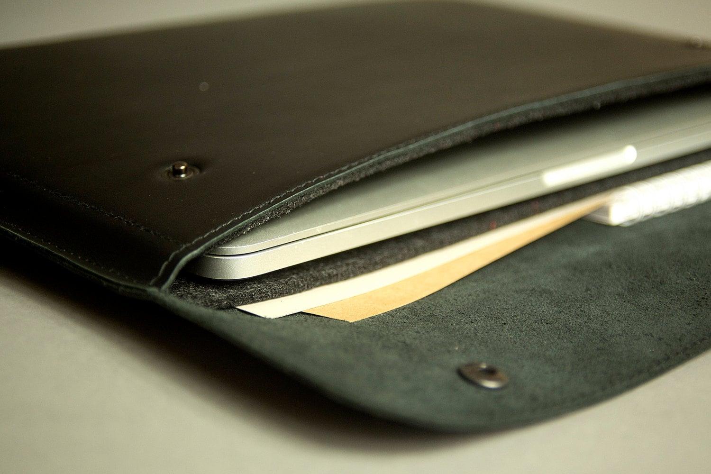outlet store 67344 19b3d MacBook 133 pro case Leather laptop 13 inch case Felt Macbook pro ...