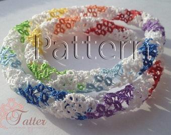 """PDF Tatting Pattern """"Tatted 3D Lace Lariats"""""""