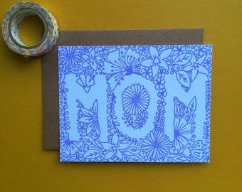 Mom Letterpress Card