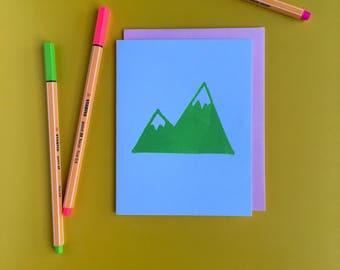 Green Peaks Letterpress Card