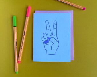 Purple Peace Letterpress Card