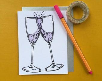 Cheers Letterpress Card