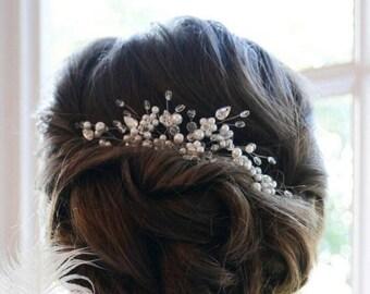 Pearl Bridal Headpiece, Pearl Bridal Hair Comb, Bridal hair piece, Wedding hair piece, Wedding hair comb, Wedding headpiece