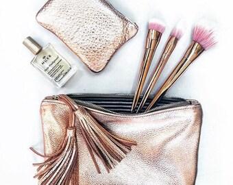 15913841cf6 ROSELLA light pink clutch. Metallic leather clutch. Leather clutch bag.
