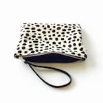 DOTTY Real leather clutch. Hair on hide clutch. Real leather clutch. Animal print clutch. Clutch bag.