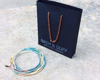 Seed bead bracelet, multi wrap bracelet, beaded necklace