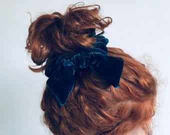 Silk velvet hair scrunchies