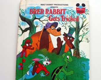 Brer Rabbit Gets Tricked Book, Vintage 1981  Walt Disney Book, Vintage Random House Book, Brer Rabbit Book