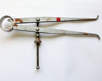 Vintage Inside Calipers, Vintage Calipers, Vintage Measuring Tool, Machinist Calipers, Sampson Tools, Sampson Calipers, Carpentry calipers