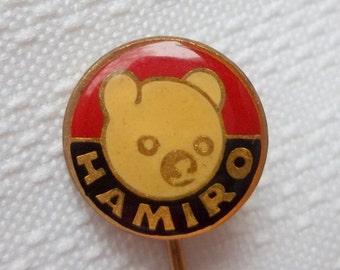 HAMIRO pin - vintage doll and toy maker, Hamiro sweets, HAMIRO toy, HAMIRO doll, Hamiro logo pin